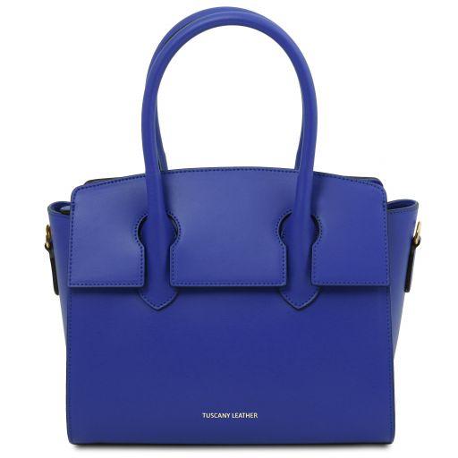 Brigid Leather handbag Blue TL141943