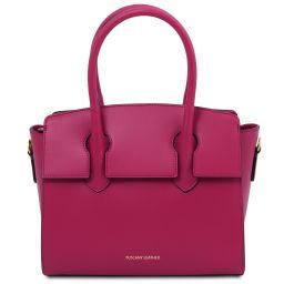 Brigid Leather handbag Фуксия TL141943