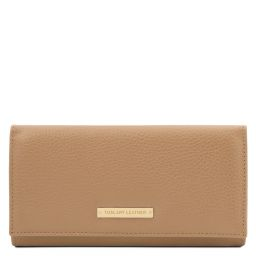 Nefti Exclusive soft leather wallet for women Champagne TL142053