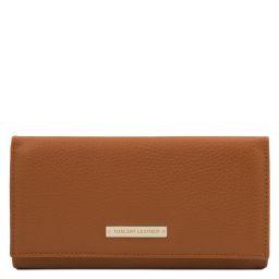 Nefti Esclusivo portafoglio donna in pelle morbida Cognac TL142053