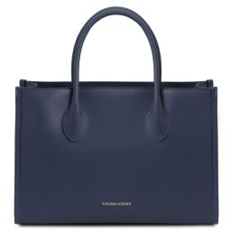 Letizia Sac shopping en cuir Bleu foncé TL142040