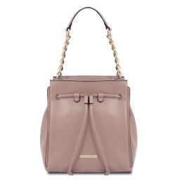 TL Bag Borsa secchiello in pelle morbida Nude TL142134