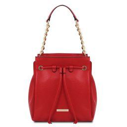 TL Bag Beuteltasche aus weichem Leder Lipstick Rot TL142134
