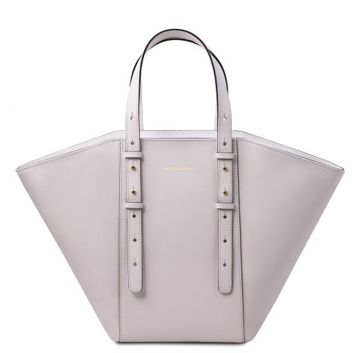 TL Bag Borsa shopper in pelle Bianco TL142123