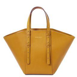 TL Bag Borsa shopper in pelle Senape TL142123