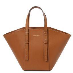 TL Bag Borsa shopper in pelle Cognac TL142123