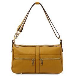 TL Bag Borsa a spalla in pelle Senape TL142133