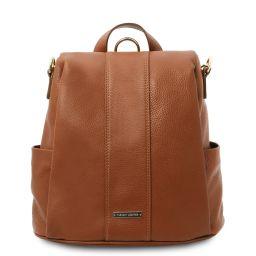 TL Bag Mochila en piel suave Cognac TL142138