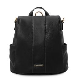 TL Bag Soft leather backpack Black TL142138