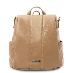 TL Bag Soft leather backpack Champagne TL142138