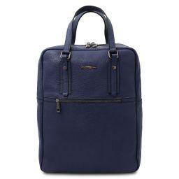TL Bag Sac à dos en cuir souple avec 2 compartiments Bleu foncé TL142136