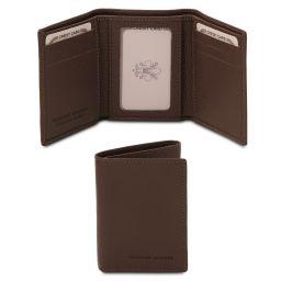 Esclusivo portafoglio in pelle morbida a 3 ante Testa di Moro TL142086