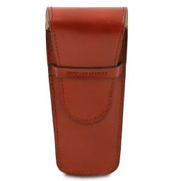 Exclusive leather 2 slots pen/watch holder Honey TL142130