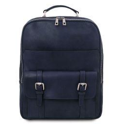 Nagoya Leather laptop backpack Dark Blue TL142137