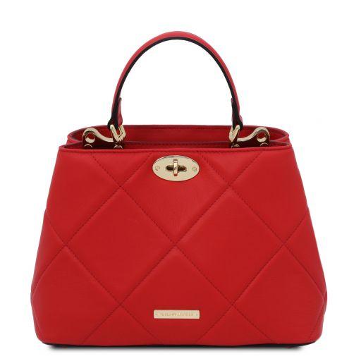 TL Bag Soft quilted leather handbag Lipstick Red TL142132