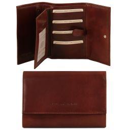 Эксклюзивный кожаный бумажник для женщин Коричневый TL140796