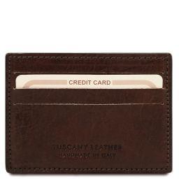 Elegante porta tarjetas de credito en piel Marrón oscuro TL141011