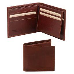 Elegante cartera de señor en piel Marrón TL141353