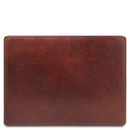 Leather desk pad with inner compartment Коричневый TL142054
