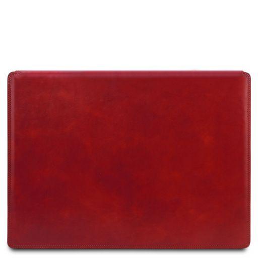 Sottomano da scrivania in pelle con ribalta Rosso TL142054