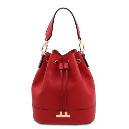 TL Bag Beuteltasche aus Leder Lipstick Rot TL142146