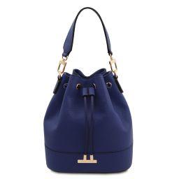 TL Bag Borsa secchiello in pelle Blu scuro TL142146