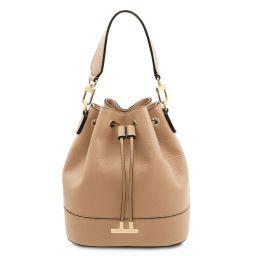 TL Bag Bolso cubo secchiello en piel Champagne TL142146