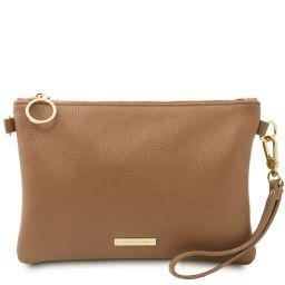 TL Bag Sac à main en cuir souple Taupe TL142029