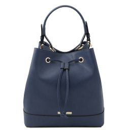 Minerva Borsa secchiello in pelle Blu scuro TL142145
