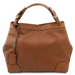 Ambrosia Sac shopping en cuir souple avec bandoulière Cognac TL142143
