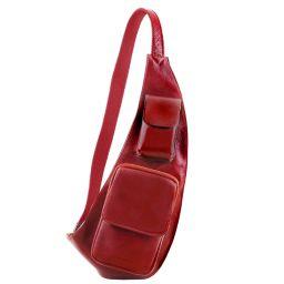 Monospalla in pelle Rosso TL141352