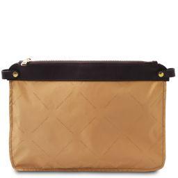 TL Smart Module Módulo bolsillo para bolsos de mujer en piel suave Beige TL141569