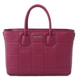 TL Bag Soft quilted leather handbag Фиолетовый TL142124