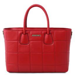 TL Bag Bolso a mano en piel suave acolchado Rojo Lipstick TL142124