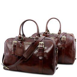 Vespucci Set de voyage en cuir Marron TL141257