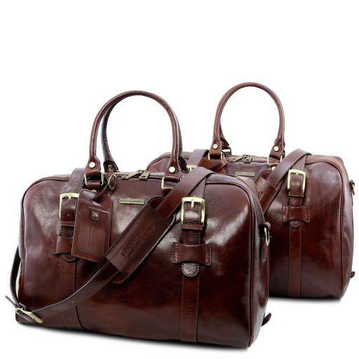 Vespucci Leather travel set Brown TL141257