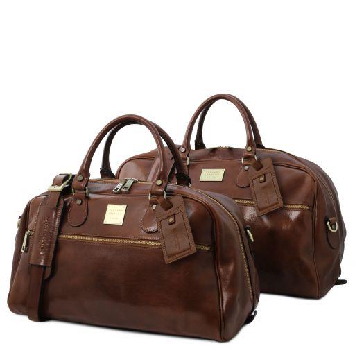 Magellan Leather travel set Brown TL141258
