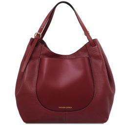 Cinzia Bolso shopping en piel suave Rojo TL142144