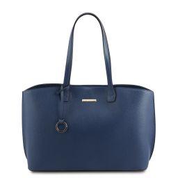 TL Bag Bolso shopping en piel Azul oscuro TL141828