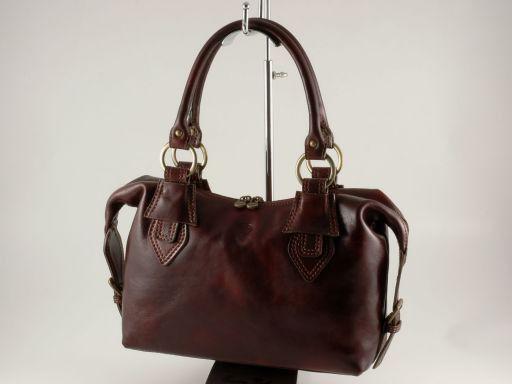 Anastasia Lady leather bag Dark Brown TL140440