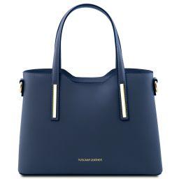 Olimpia Leather tote - Small size Dark Blue TL141521