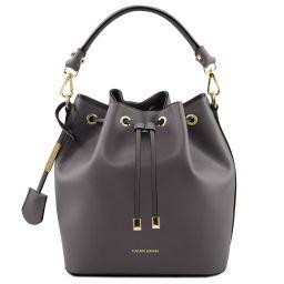 Vittoria Leather bucket bag Grey TL141531