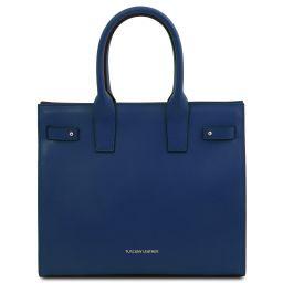 Catherine Leather handbag Dark Blue TL141933