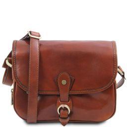 Alessia Leather shoulder bag Мед TL142020