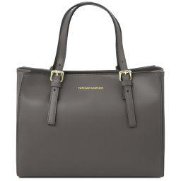 Aura Handtasche aus Leder Grau TL141434
