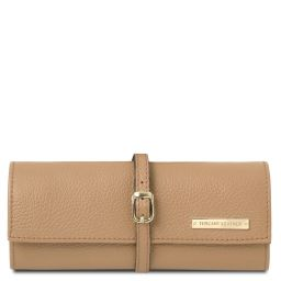 Soft leather jewellery case Champagne TL142193
