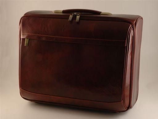 Stockholm Leather pilot case Dark Brown FC14448