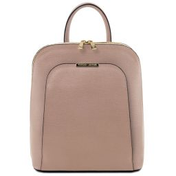 TL Bag Sac à dos pour femme en cuir Saffiano Nude TL141631