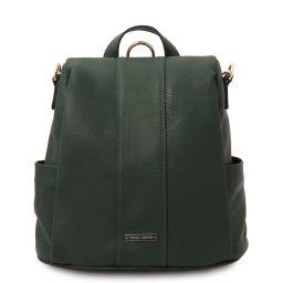 TL Bag Soft leather backpack Forest Green TL142138