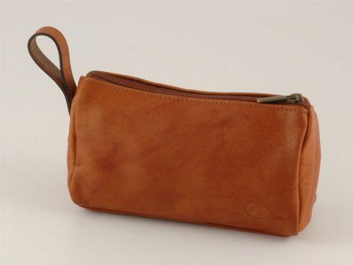 Mickey Beauty case in pelle Cognac TL100486